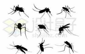 9款蚊子剪影害虫4783482矢量图片免抠素材免费下载