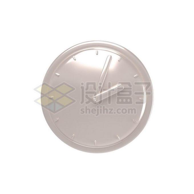 3D立体风格金属光泽钟表手表表盘7697454免抠图片素材 生活素材-第1张