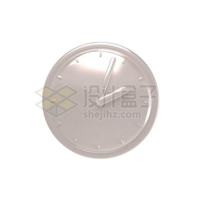 3D立体风格金属光泽钟表手表表盘7697454免抠图片素材