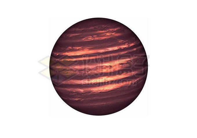 一颗暗红色的褐矮星png免抠高清图片素材 科学地理-第1张