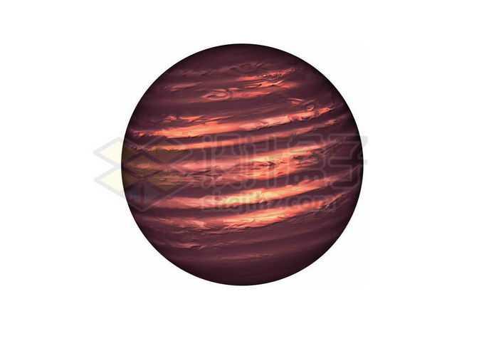 一颗暗红色的褐矮星png免抠高清图片素材