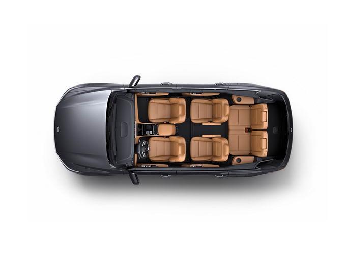 理想ONE智能电动SUV汽车座位布置分布图png免抠图片素材 交通运输-第1张