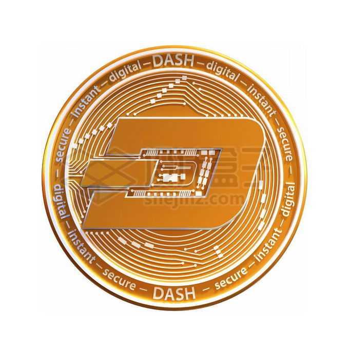 3D立体风格金色金属达世币硬币金币1621914免抠图片素材