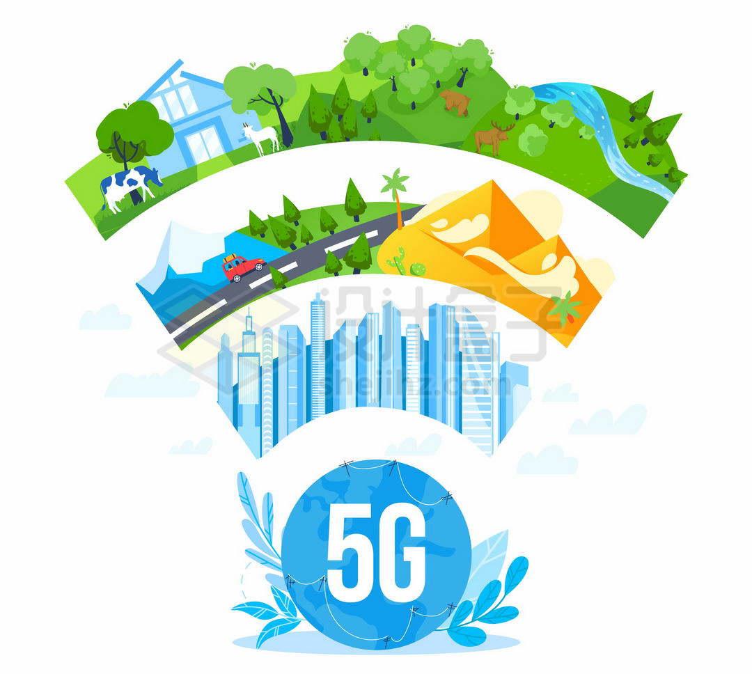 5G技术对城市交通旅游住宅的影响9720208矢量图片免抠素材