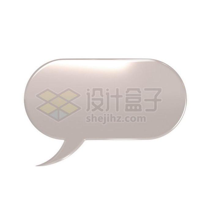3D立体风格金属色椭圆形对话框1431627免抠图片素材 边框纹理-第1张