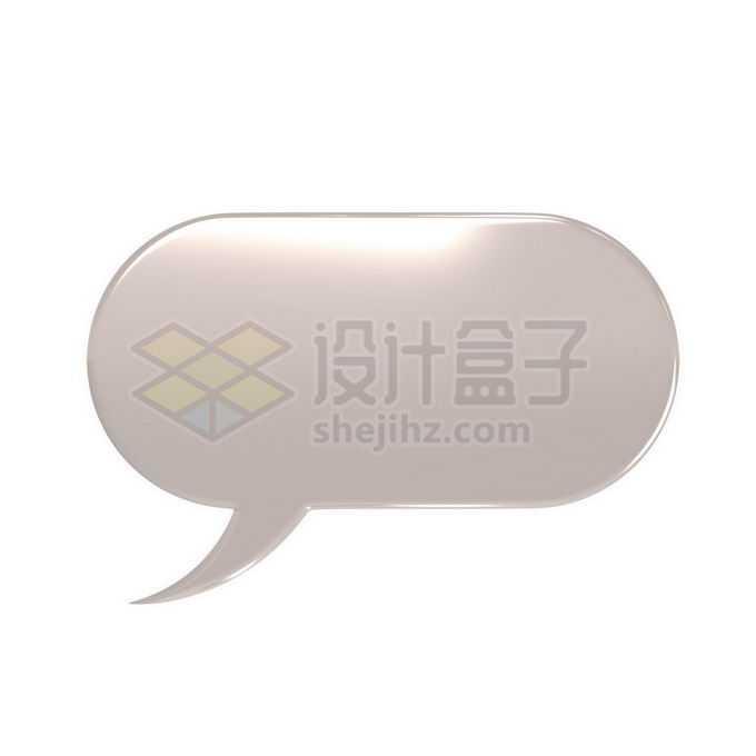 3D立体风格金属色椭圆形对话框1431627免抠图片素材