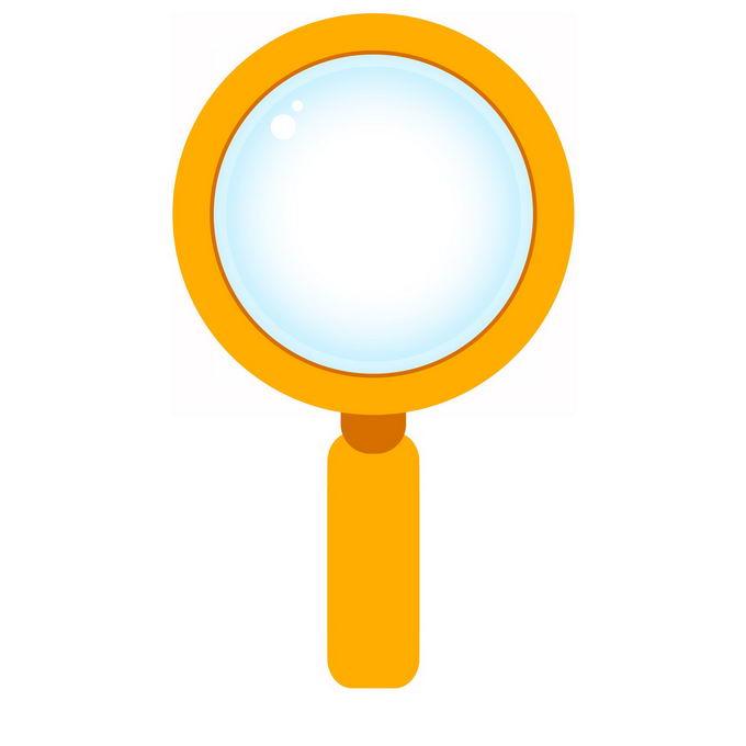 黄色放大镜图标1776050免抠图片素材 科学地理-第1张