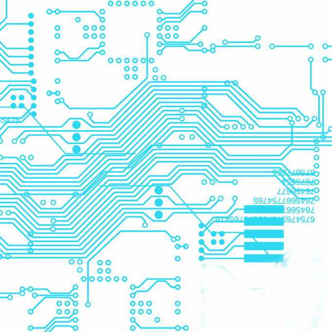 天蓝色线条组成的集成电路图案5467088图片免抠素材免费下载