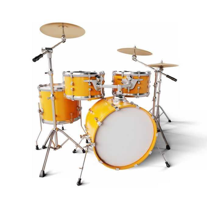 金黄色的架子鼓打击乐器西洋乐器6622391图片免抠素材免费下载
