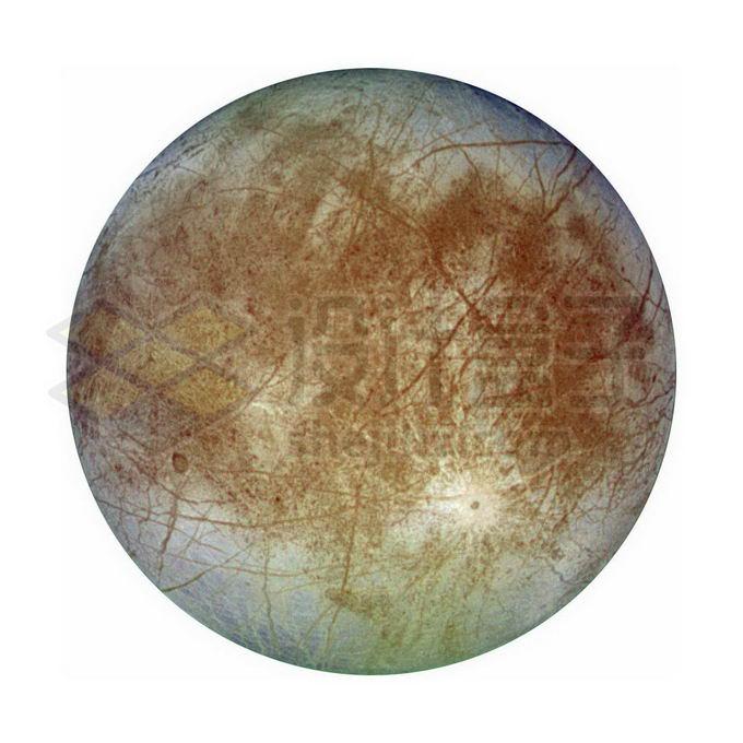 木星第四大卫星木卫二欧罗巴png免抠高清图片素材 科学地理-第1张