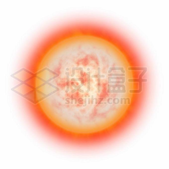 发出红光的太阳恒星红矮星红超巨星png免抠高清图片素材 科学地理-第1张