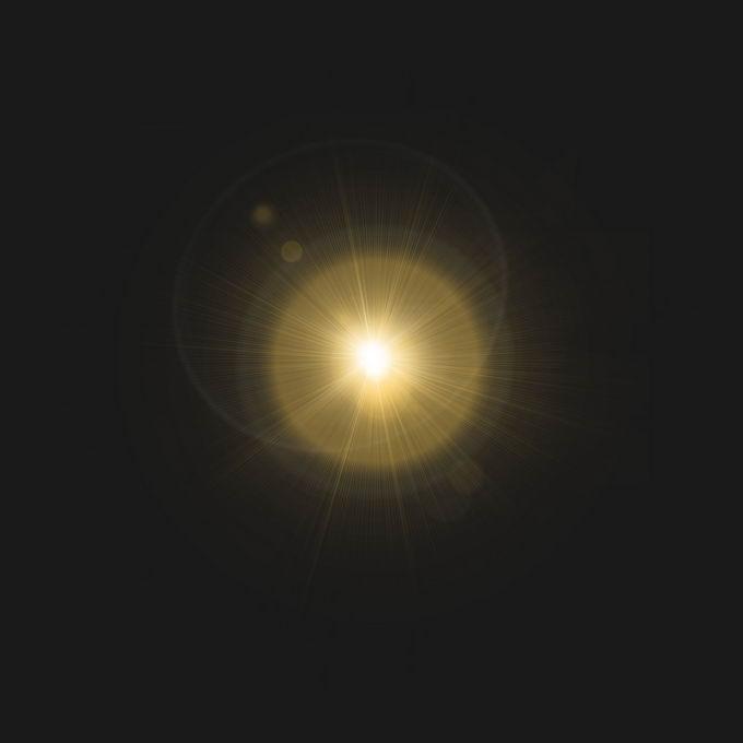 宇宙空间中看到的黄色星光或太阳光芒光晕效果1977885图片免抠素材免费下载 效果元素-第1张