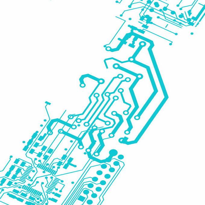 天蓝色线条组成的集成电路图案8577609图片免抠素材免费下载 线条形状-第1张