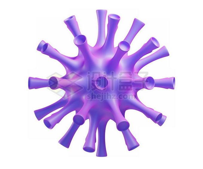 3D立体风格紫色新型冠状病毒3363463免抠图片素材 健康医疗-第1张