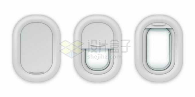 3种状态的飞机客机舷窗8302916矢量图片免抠素材