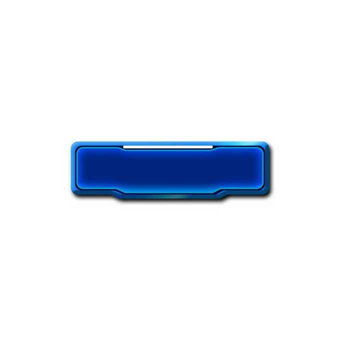 蓝色水晶按钮发光的游戏按钮3968610免抠图片素材免费下载