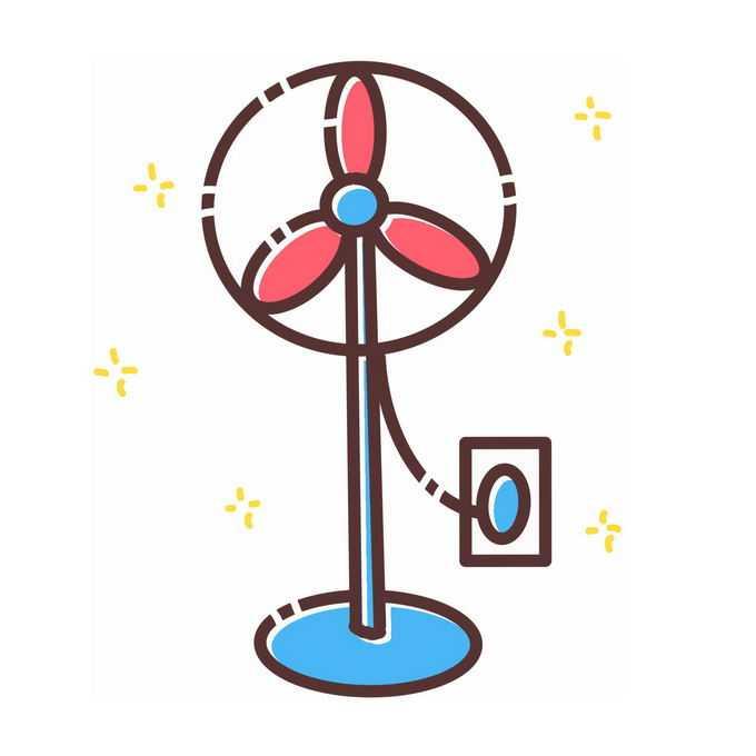 MBE风格卡通电风扇落地扇1192855图片免抠素材免费下载