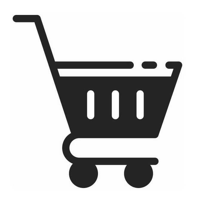 黑色超市购物车图标5172661免抠图片素材