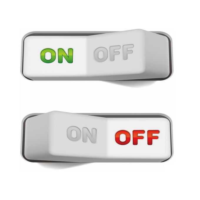 2款逼真的按键式开关按钮游戏按钮6615134免抠图片素材免费下载