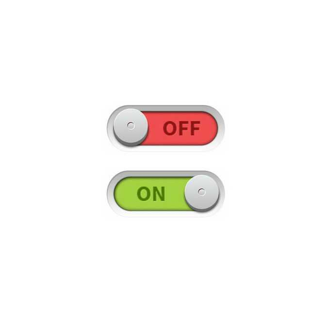 2款逼真的开关切换按钮游戏按钮网页按钮2852782免抠图片素材免费下载