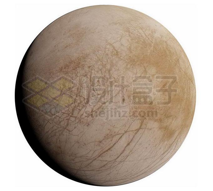 木星卫星木卫二欧罗巴png免抠高清图片素材 科学地理-第1张