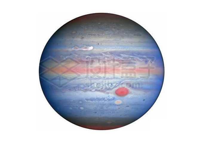 彩色气态巨行星木星png免抠高清图片素材