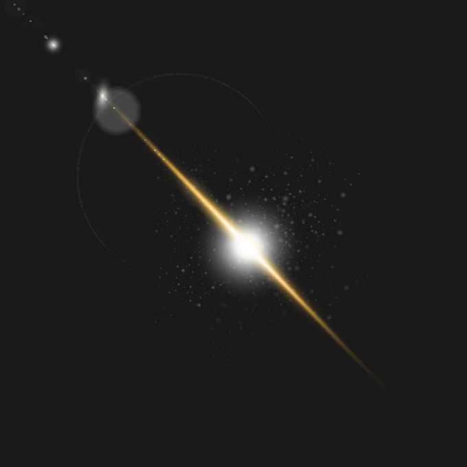 夜晚的黄色星光星芒光晕效果1287861图片免抠素材免费下载