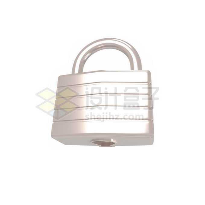 3D立体风格金属光泽门锁挂锁2874389免抠图片素材