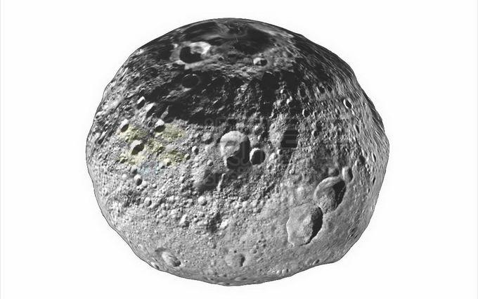 表面布满陨石坑的小行星灶神星png免抠高清图片素材 科学地理-第1张