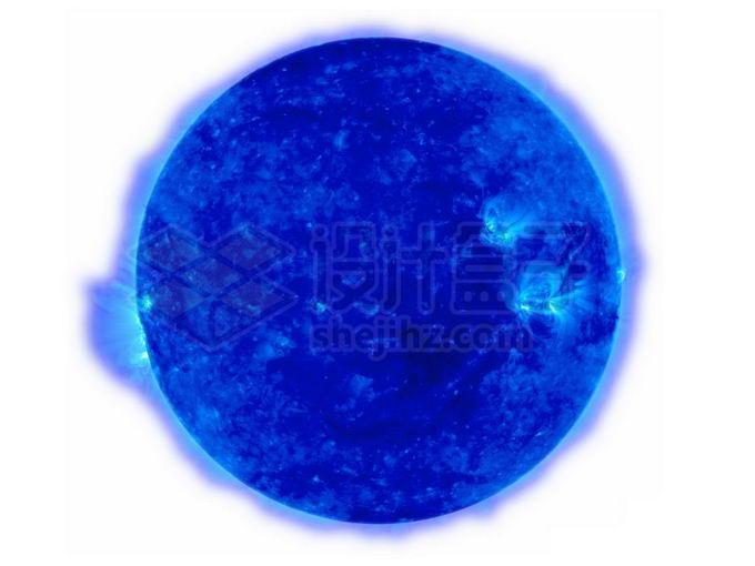 一颗蓝超巨星蓝色恒星png免抠高清图片素材 科学地理-第1张