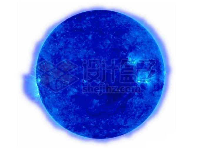一颗蓝超巨星蓝色恒星png免抠高清图片素材