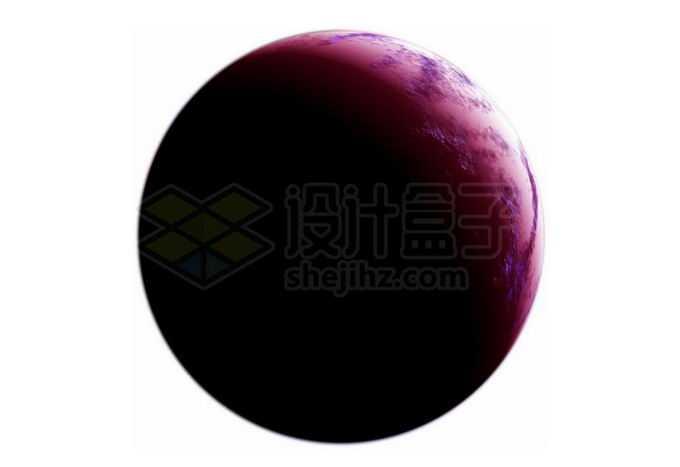 一颗紫色的宜居星球超级地球系外行星png免抠高清图片素材