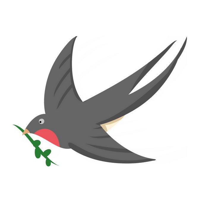 燕子雨燕小鸟儿手绘插画6745876免抠图片素材 生物自然-第1张
