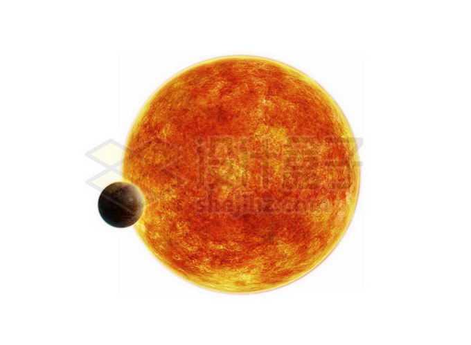 巨大恒星前面的热木星系外行星png免抠高清图片素材