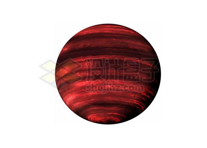 暗红色条纹图案的褐矮星png免抠高清图片素材 科学地理-第1张