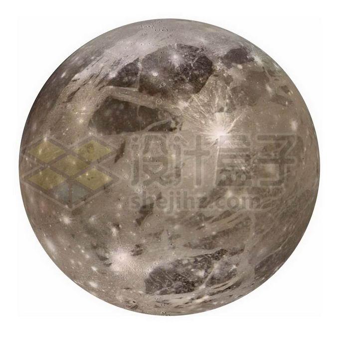 木星最大卫星木卫三png免抠高清图片素材 科学地理-第1张