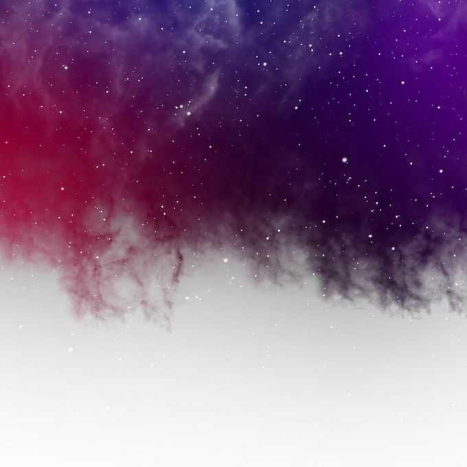 绚丽的紫红色星云和星空中的点点繁星效果装饰3263232矢量图片免抠素材