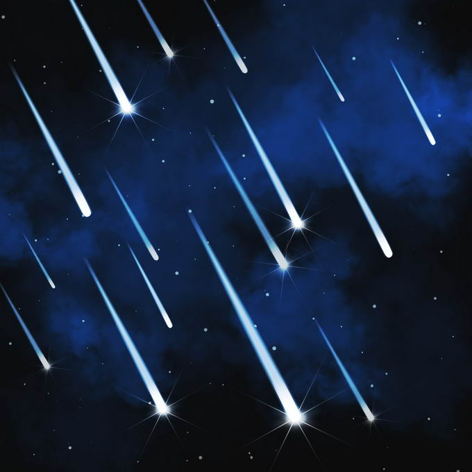 蓝色夜晚星空中的白色星轨流星效果快速飞行的光效果7336419图片免抠素材免费下载 效果元素-第1张
