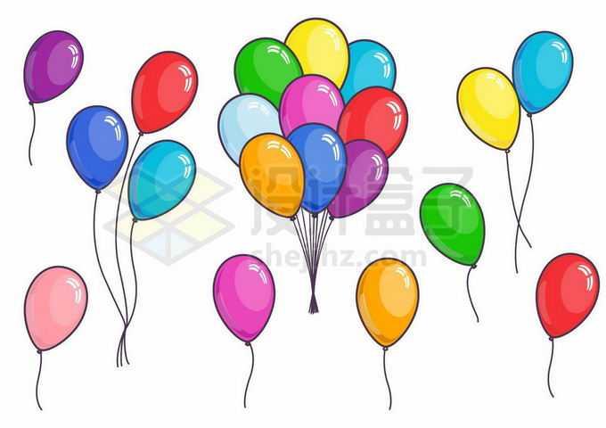 各种彩色卡通气球4170200矢量图片免抠素材免费下载