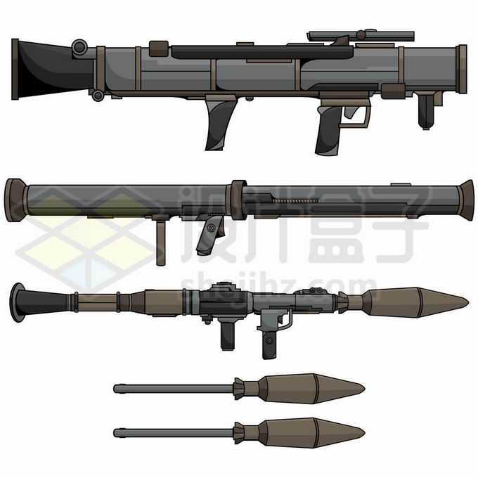 各种RPG火箭筒反坦克武器3610438矢量图片免抠素材免费下载