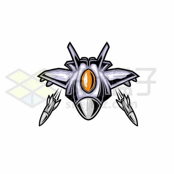 飞行中的卡通战斗机发射导弹2910154矢量图片免抠素材免费下载