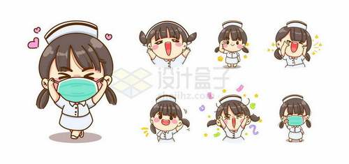 各种造型的超可爱卡通女护士女医生4505632矢量图片免抠素材免费下载