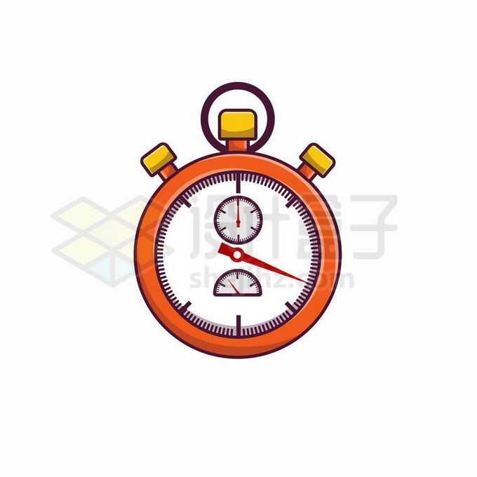 MBE风格卡通秒表计时器5877234矢量图片免抠素材免费下载