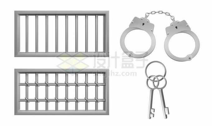 2款监狱铁窗铁栅栏和手铐8038129矢量图片免抠素材免费下载