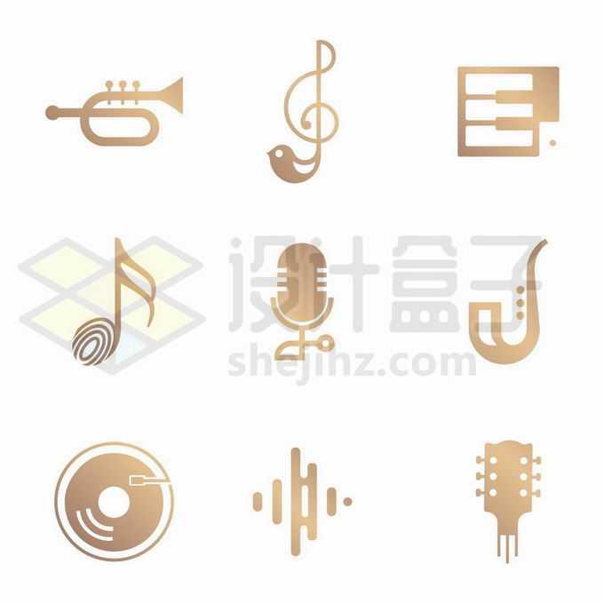 9款音乐乐器图案图标4188911矢量图片免抠素材免费下载