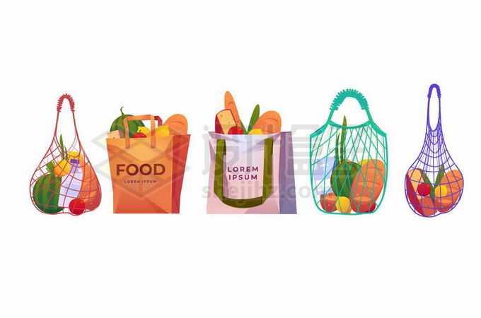 网袋纸袋布袋拒绝塑料袋9658031矢量图片免抠素材免费下载