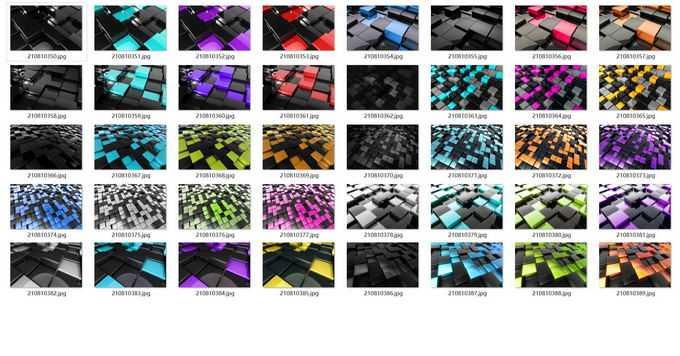 40张玻璃光泽的高清3D立方体背景图片素材免费下载