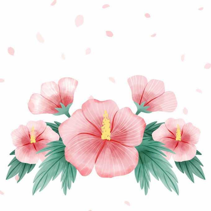盛开的红色花朵鲜花插画2327515矢量图片免抠素材免费下载