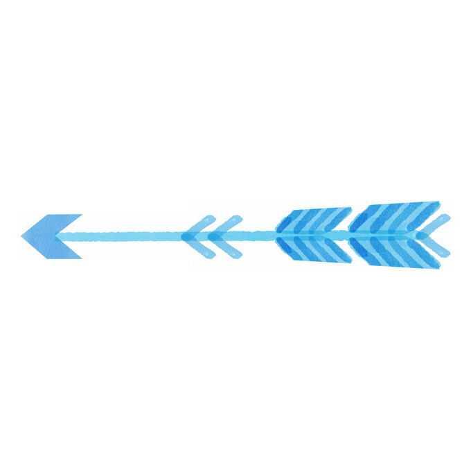 蓝色方向箭头水彩插画8855337矢量图片免抠素材免费下载