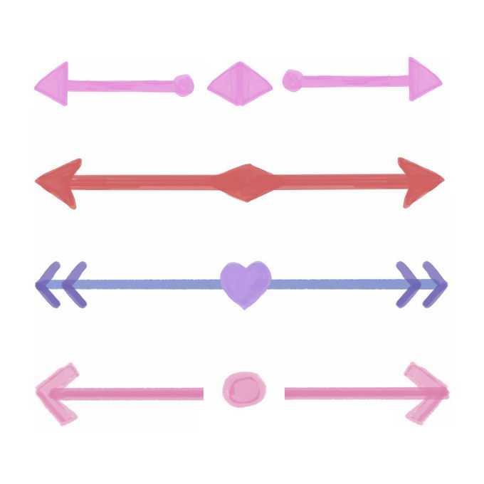 4款分割线条箭头水彩风格8082037矢量图片免抠素材免费下载